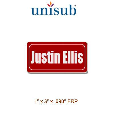 Unisub Sublimation Blank Name Badge - 1.5