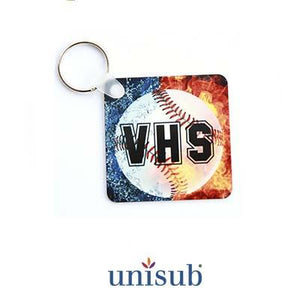 "Unisub Sublimation Blank Aluminum Key Tag - 2.25"" x 2.25"" - Square"