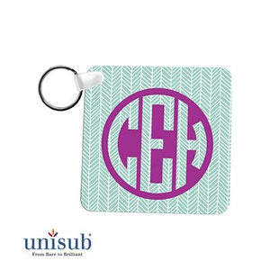 "Unisub Sublimation Blank Aluminum Key Tag - 2.25"" x 2.25"" - Square - Semi-Gloss"