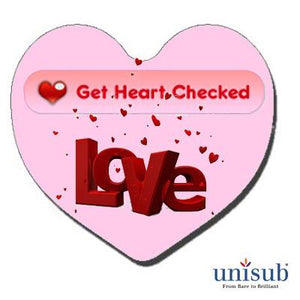 "Unisub Sublimation Blank FRP Magnet - 2.5"" - Heart"