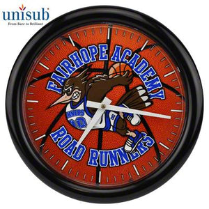 "Unisub Sublimation Blank Aluminum Wall Clock Kit - 8.125"" Round w/Frame"