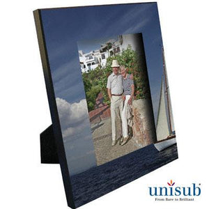 "Unisub Sublimation Blank MDF Picture Frame - 8"" x 10"" w/Easel - Fits 5"" x 7"" Photo"
