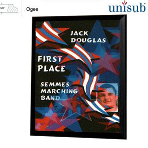 "Unisub Sublimation Blank MDF Plaque - 5"" x 7"" - Black Ogee Edge"