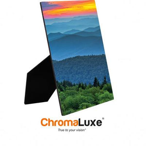 "ChromaLuxe Sublimation Blank Hardboard Photo Panel - 5"" x 7"" - Gloss White w/Easel"