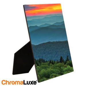 "ChromaLuxe Sublimation Blank Hardboard Photo Panel - 8"" x 10"" - Gloss White w/Easel"