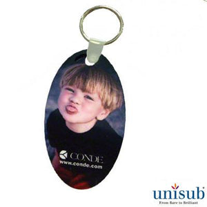 "Unisub Sublimation Blank Aluminum Key Tag - 1.375"" x 2.5"" - Oval"