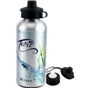 DyeTrans Sublimation Blank Aluminum Water Bottle - 600ml - Clear w/Top and Carabiner