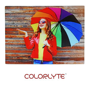 "ColorLyte Sublimation Blank Flat Photo Glass Panel - 8"" x 10"""