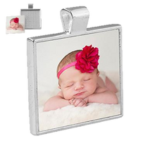 Load image into Gallery viewer, Square Bezel Pendant - Large