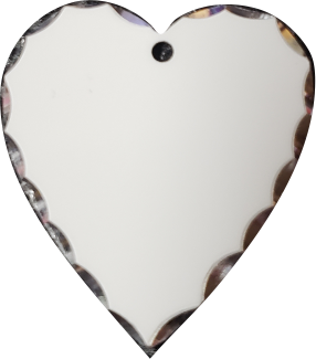 Heart Pendant w/Scalloped Edge