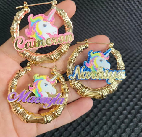 Unicorn Character Hoops