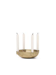 Bowl Candle Holder Brass