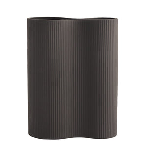 Bunn dark grey Ceramic Vase