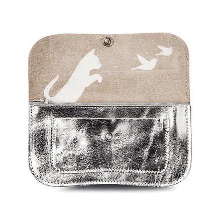 Portemonnaie Cat Chase Medium Silver