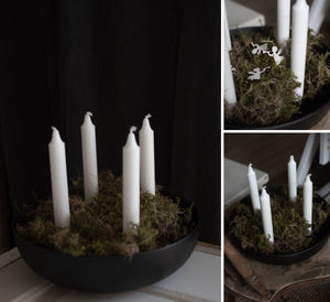 Grandholmen XXL glossy Black candle holder