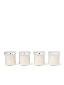 Scented Advent Candles 4 er Set