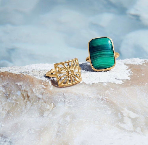 Cosmos Malachite Ring