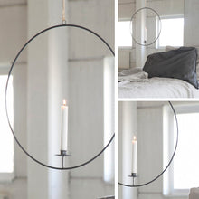 Laden Sie das Bild in den Galerie-Viewer, Gullabo Dark grey hanging candlestick