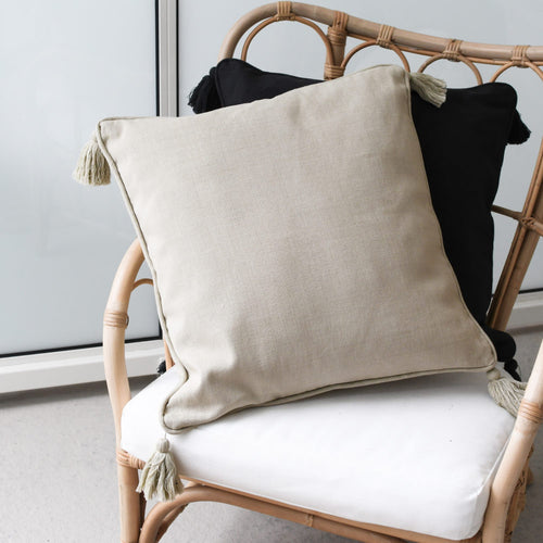 Vallsund Beige cushion Cover with tassels