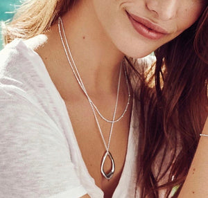 Solar Necklace silber/vergoldet