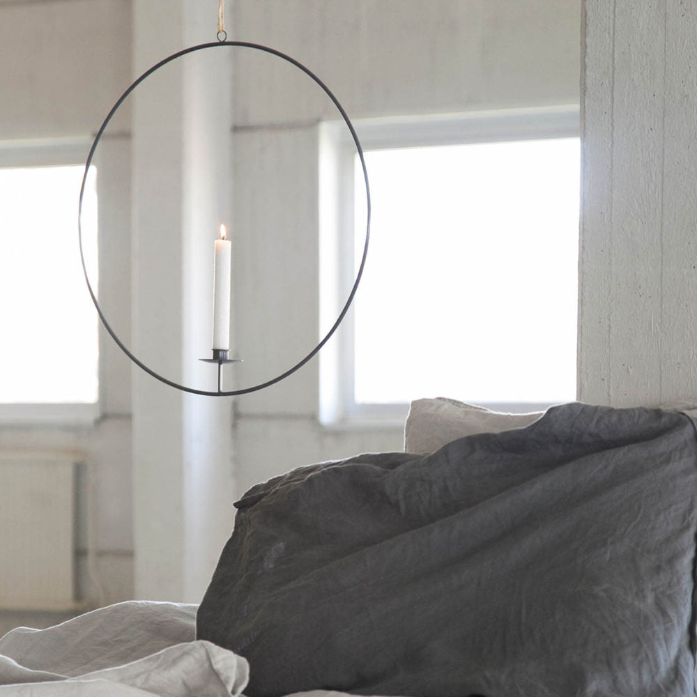 Gullabo Dark grey hanging candlestick