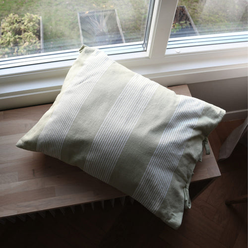 Utveda Green / White cushion cover