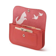 Laden Sie das Bild in den Galerie-Viewer, Cat Chase Wallet Medium Coral