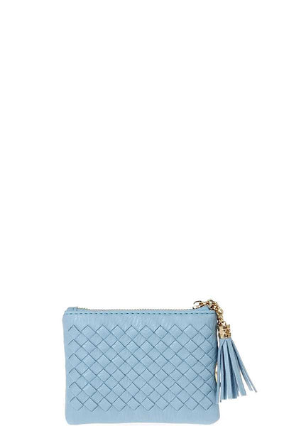 Cute Braided Zip Top Coin Key Wallet - Teal Pineapple Boutique