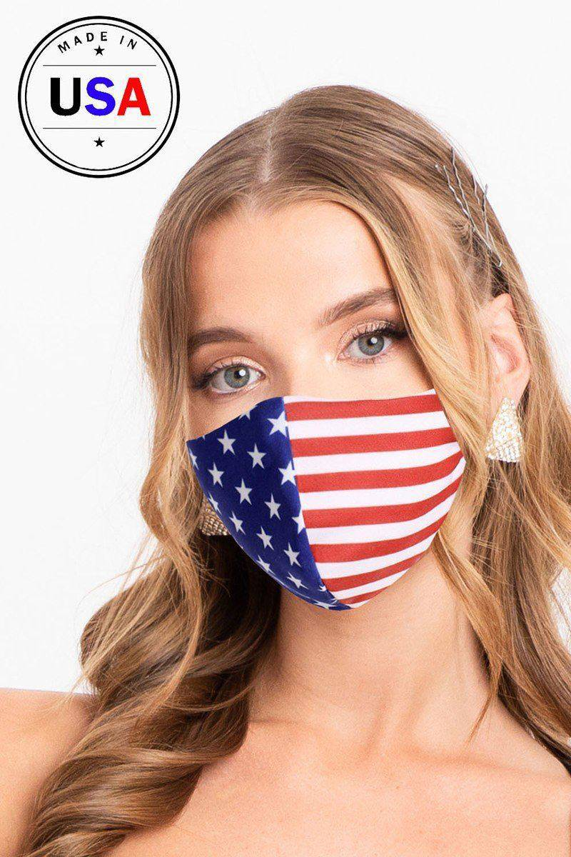 American Flag Red White & Blue Reusable Face Mask - Teal Pineapple Boutique