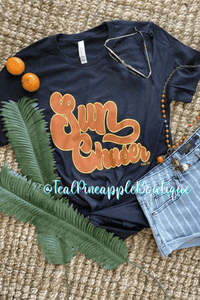 """ Sun Chaser "" Summertime Bella Canvas Graphic Tee Shirt - Teal Pineapple Boutique"