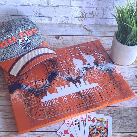 oilers cribbage board