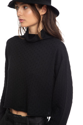 NINObrand black Sweater in 100% Italian merino wool made in Brooklyn