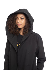 Black water and wind proof three quarter length Jacket with magnets