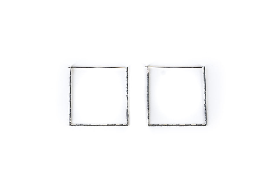 NINObrand Ada square sterling silver earrings