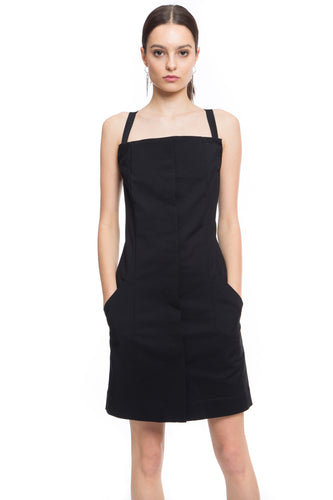NINObrand Short fitted dress with pockets