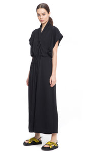 NINObrand black Sleeveless jumpsuit with long wide legs