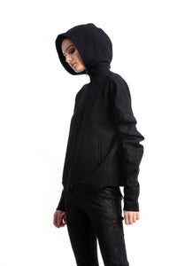 NINObrand Black Hoodie with a contemporary design approach