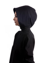 Load image into Gallery viewer, NINObrand Black Hoodie with a contemporary design approach