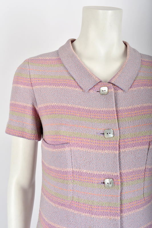 CHANEL pastel stripes Cruise 2000 dress - S/M