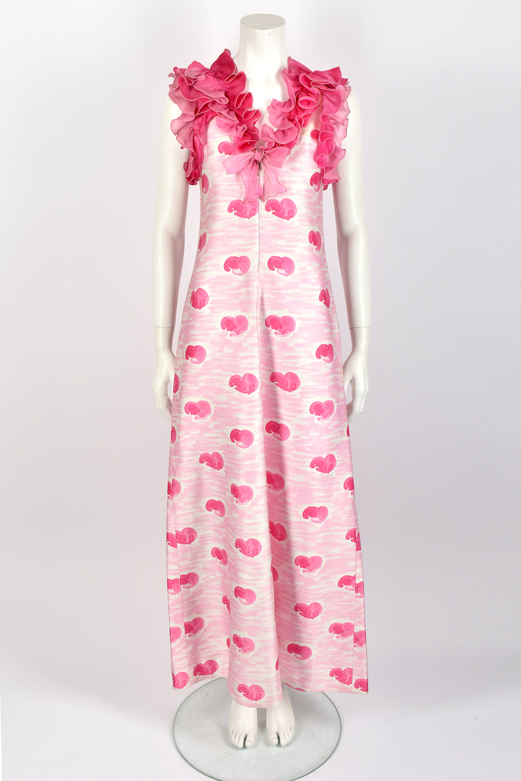 ANDRE COURREGES 60s frilled dress / S-M