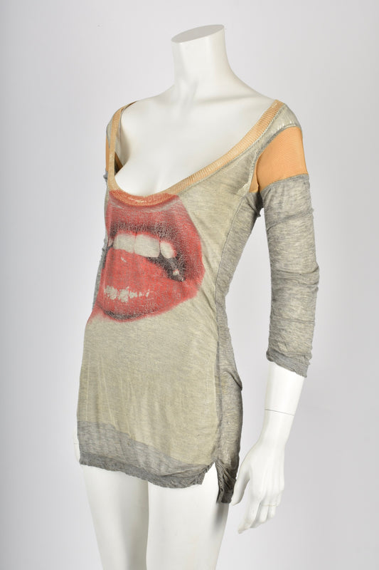 VIVIENNE WESTWOOD 00s lips pullover / XS