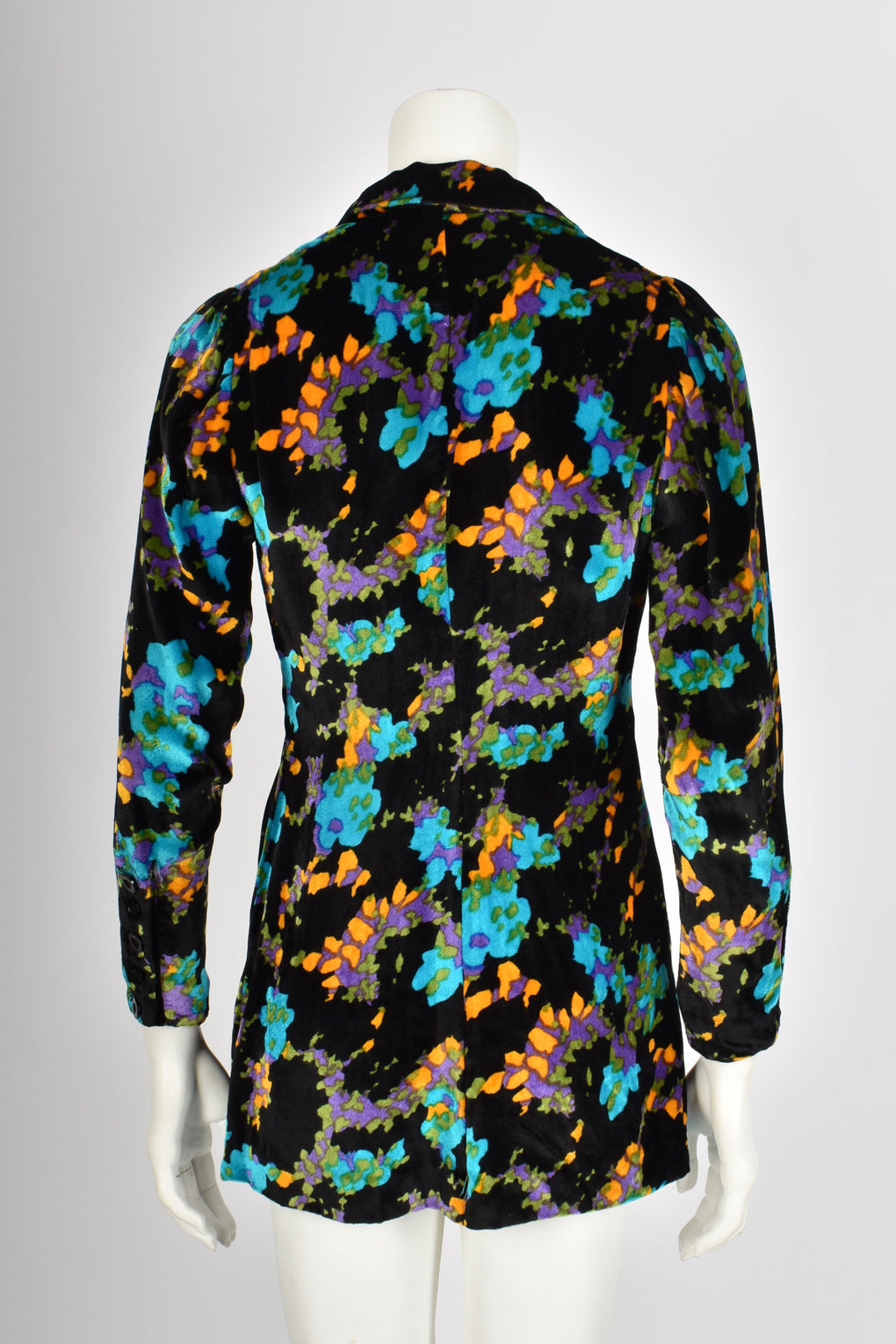 VINTAGE 60s 70s silk velvet tailored jacket S-M