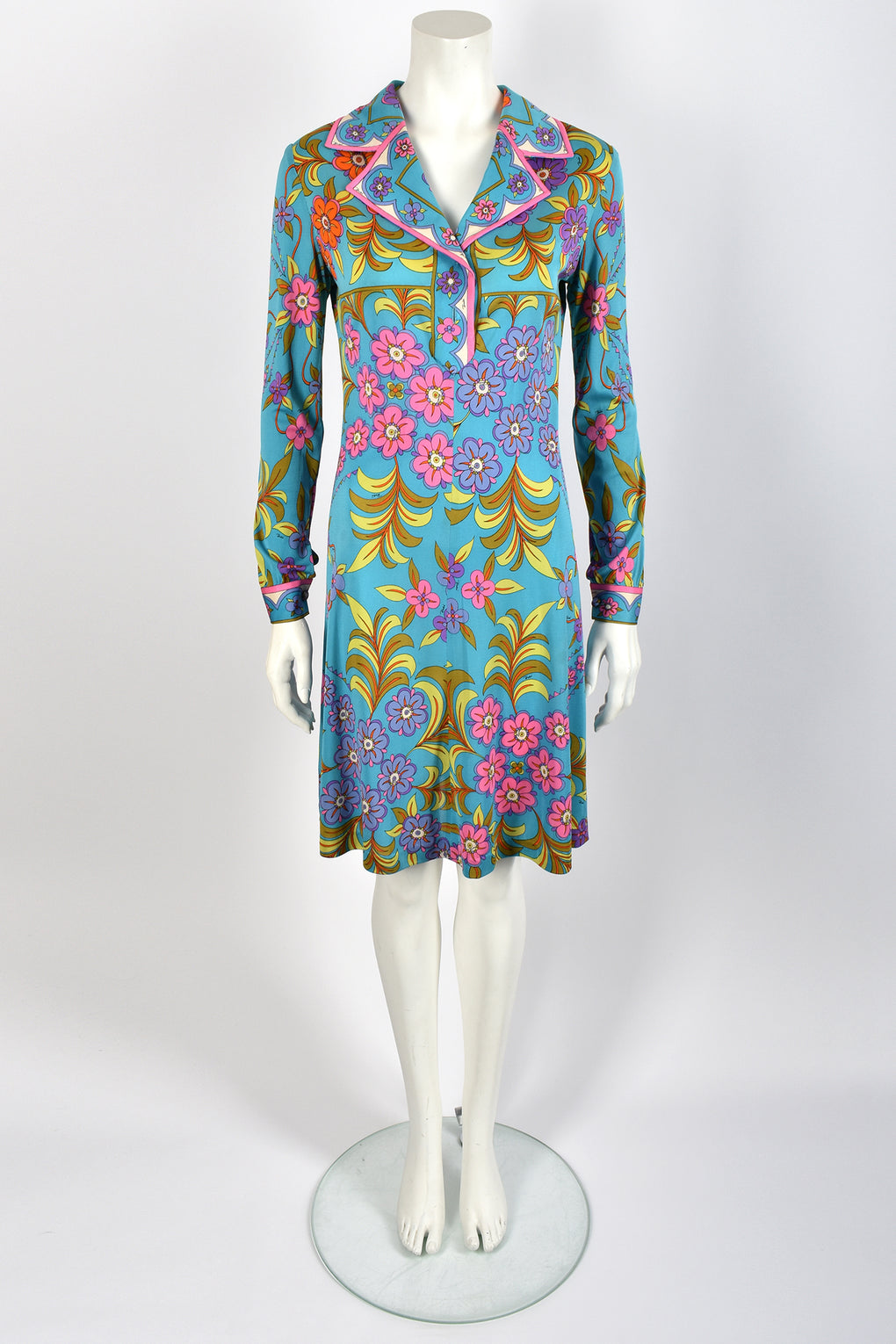 EMILIO PUCCI 60s silk jersey dress / M
