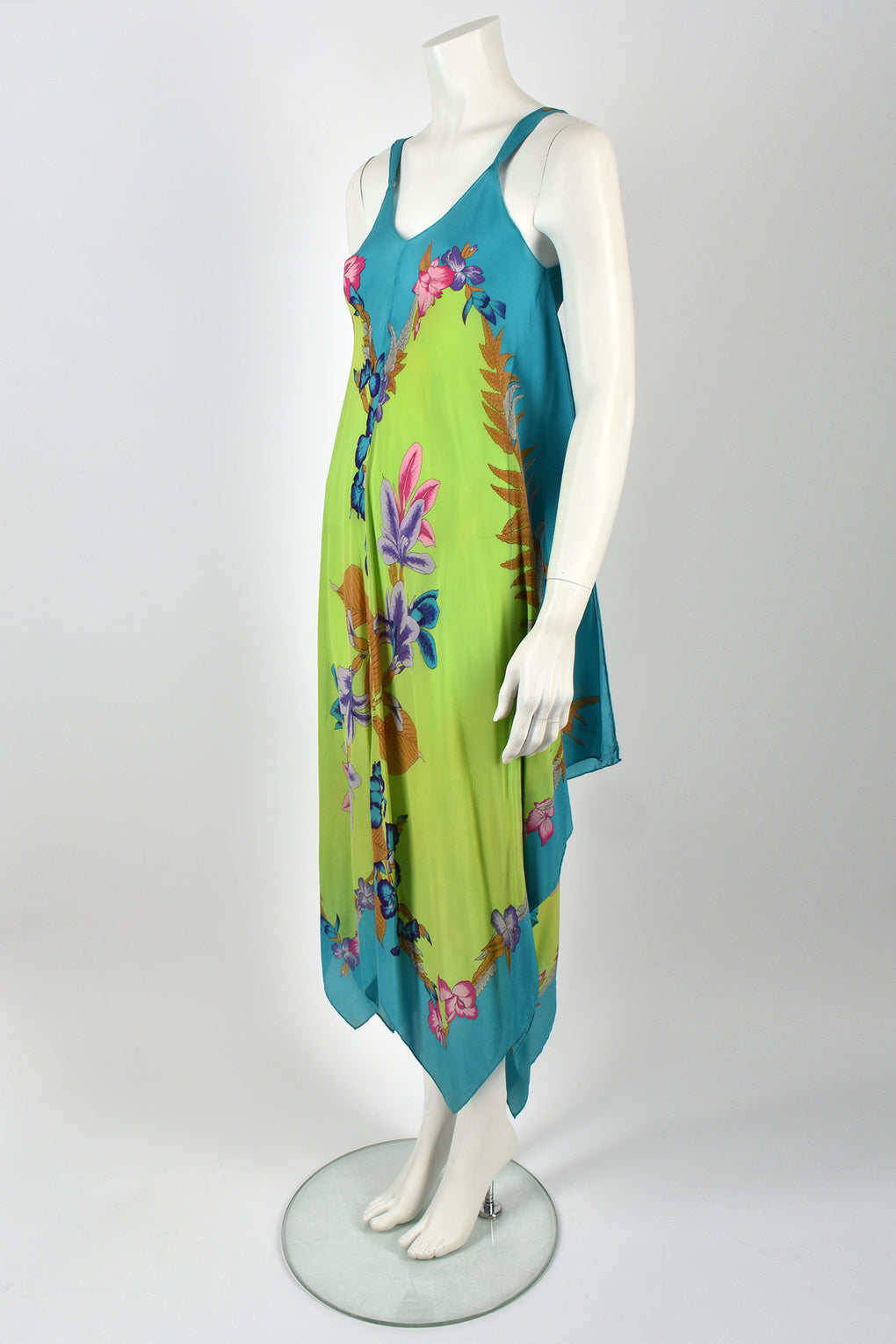 70s handkerchief dress / XS-M