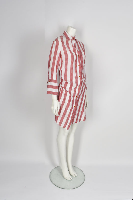Vivienne Westwood red label striped shirt dress