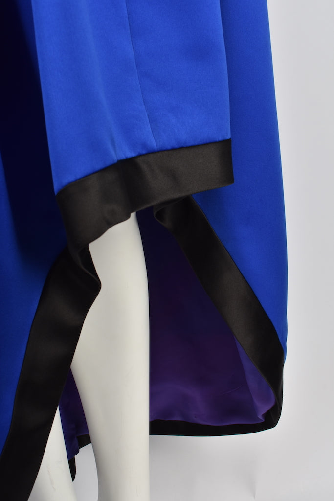 YVES SAINT LAURENT beaded blue dress