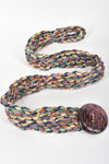 MISSONI 70s woven leather belt / S