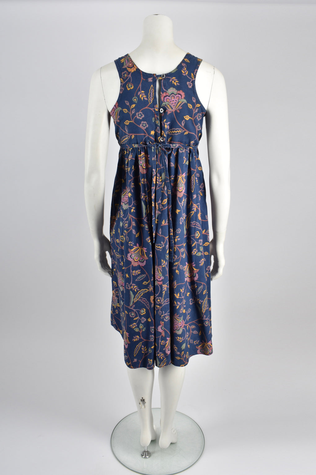 DAVID SILVERMAN 70s paisley dress / S-M
