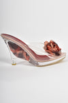 AZUREE CANNES 90s clear plastic shoes / 41