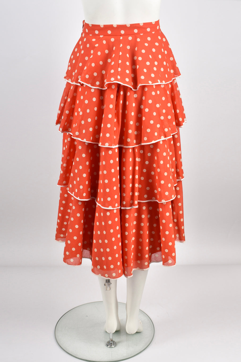 Louis Feraud 70s polka dot skirt  S-M
